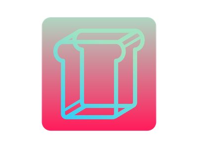 Hypertoast App Icon bread toast bright colorful gradient app icons app icon 005 dailyui