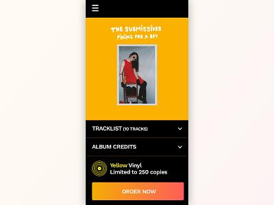 E-Commerce Shop Single Page gradient minimal records music vinyl e-commerce 012 dailyui