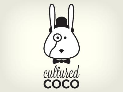 Cultured Coco Logo logo rabbit