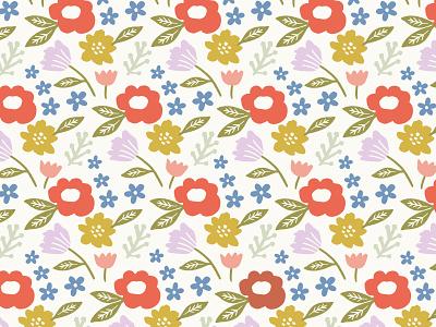 (8/8) Multi-Color Flower Pattern seamless pattern repeat repeat pattern spring flower patterns flower pattern patterns pattern flora flower illustration flowers flower design hand drawn illustration design drawing illustration
