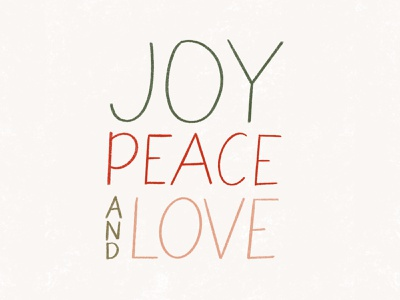 Joy, Peace, and Love hand drawn font hand drawn ipad love peace joy christmas card typography design drawing christmas holiday lettering handlettering