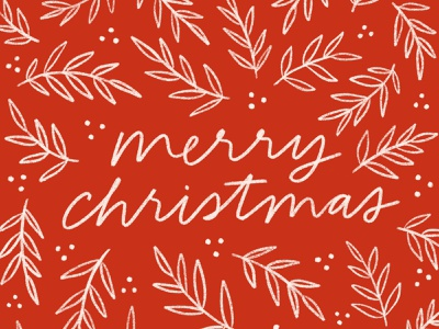 Merry Christmas card merry christmas greeting card plant typography handwriting floral winter pattern illustration design hand drawn design christmas drawing holiday handlettering lettering illustration
