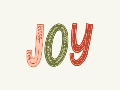 JOY holiday cards holiday card joy christmas cards illustration design christmas card typography illustration challenge greeting card handwriting winter hand drawn drawing design christmas lettering holiday handlettering illustration