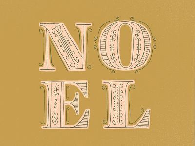 NOEL noel typogaphy christmas cards typography illustration challenge christmas card greeting card winter handwriting illustration design hand drawn drawing design christmas holiday lettering handlettering illustration