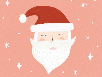 Jolly St. Nick holiday card hand drawn drawing greeting card illustration illustration design christmas card holiday design holiday cards christmas holiday santa claus santa clause