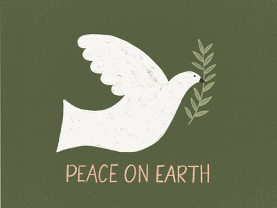 Peace on Earth peace dove holiday card holiday cards christmas cards illustration challenge winter christmas card handwriting greeting card design illustration design lettering hand drawn drawing christmas holiday handlettering illustration