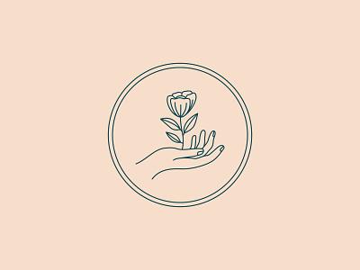 Sneak Peek circle logo circle hand illustration hand flower logo flower illustration flower vector logo design illustration design illustration