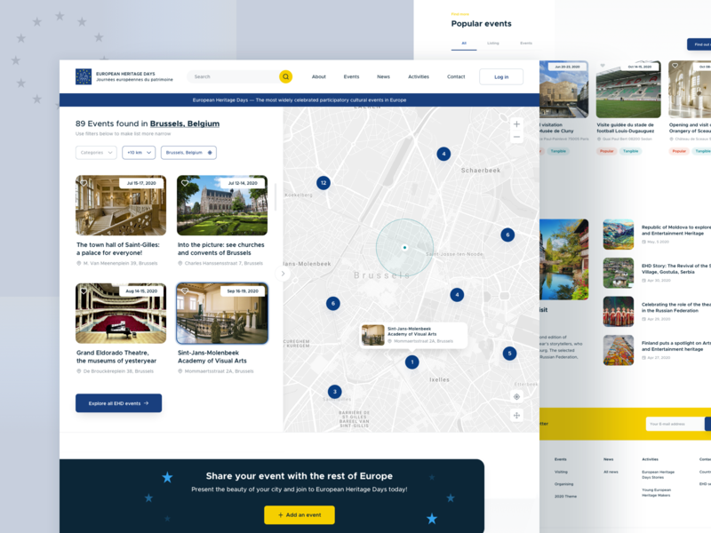 European Heritage Days - Homepage minimal white space modern european union map web design website visual web ux ui typography homepage design clean
