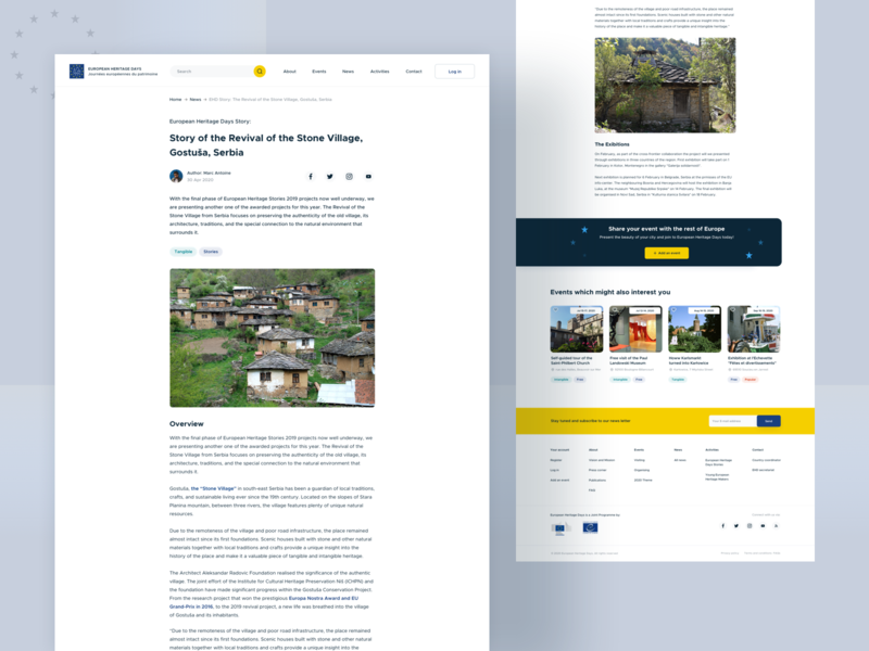 European Heritage Days - Single news single news web design website visual web ux news ui typography school minimal landing page european union design clean
