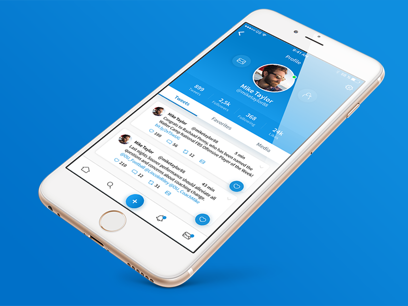 Twitter user profile redesign shadow screen social profile user twitter blue redesign ios app