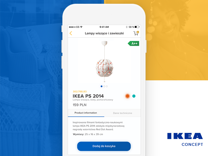 Ikea product screen concept shop redesign product landing interior ikea furniture e-commerce app