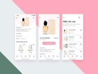 Perfumes shop app concept high res