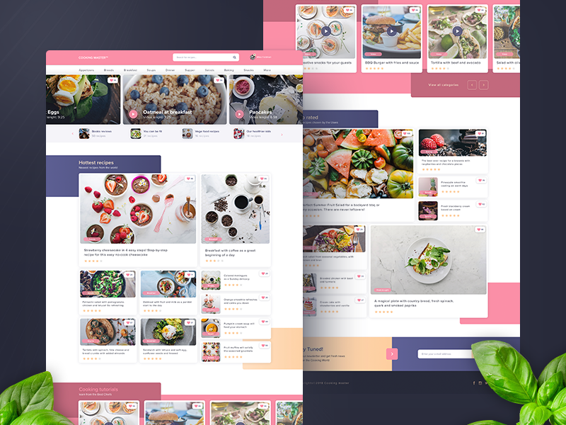 Recipes Website Shot website ux ui homepage fit recipes organic ingredients food delicious
