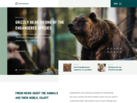 Animals blog design web main page