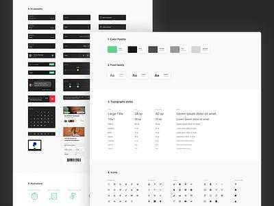 SPRT app styleguide ui symbols styleguide product guidelines guide illustration interface design green color-palette black app-brand assets app