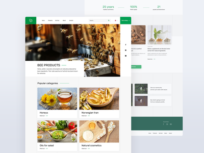 Gal website project food healthy cosmetics supplements natural web website product clean design ux ui