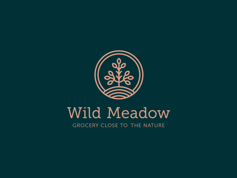 Wild Meadow identity branding identity design ingredients natural grocery creative typography branding design logo
