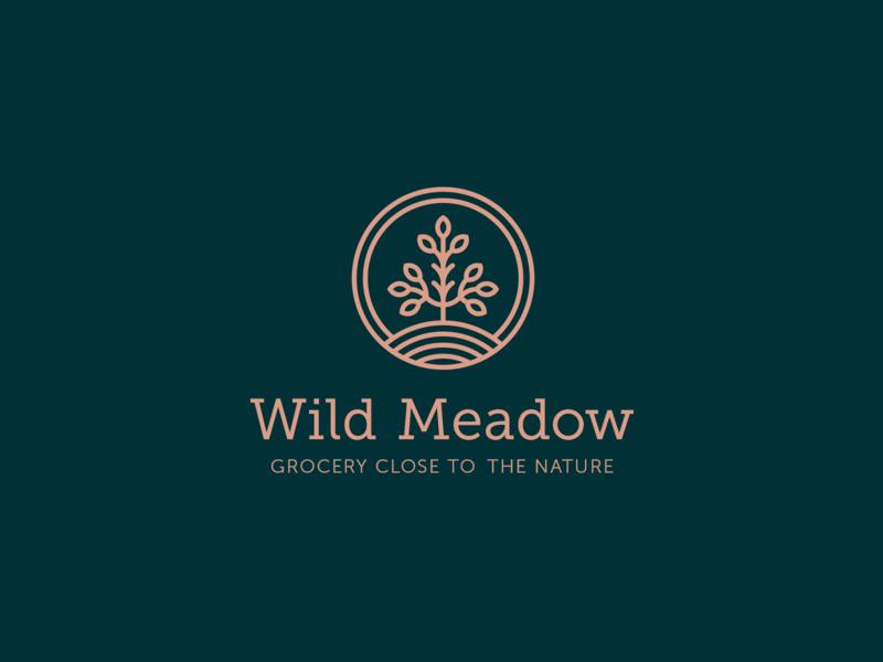 Wild Meadow identity branding identity design ingredients natural grocery creative typography branding design logo