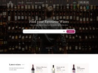 Wine search website 2x dribbble