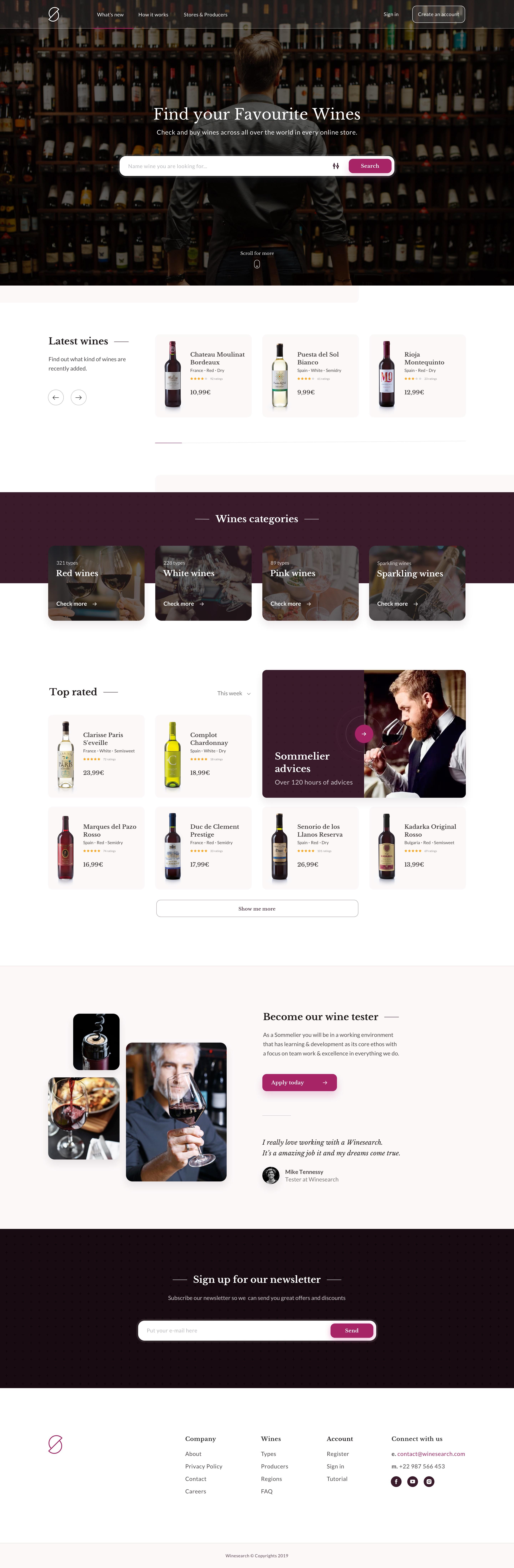 Wine search website 2x dribbble