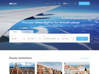 Azair homepage full view website dribbble