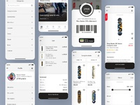 Skate shop dribbble shot most app screens ios