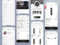 Skate shop app - eCommerce concept