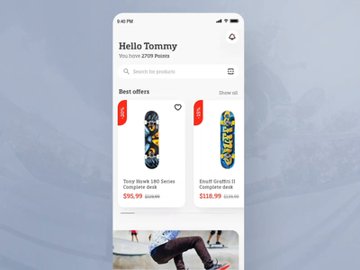 Skate shop app - Product scanning