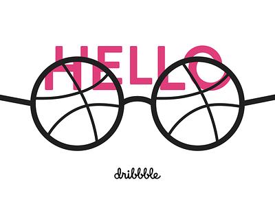 Hello dribbble! japan tokyo dribbble illustration design hello dribbble