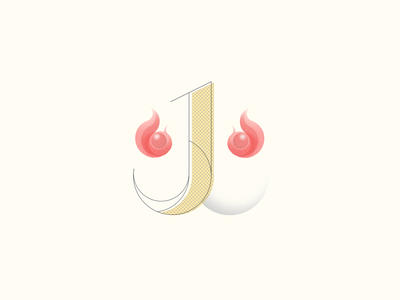Fire kanji logo tokyo japan illustration design