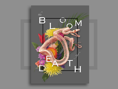 Some bones flower snakes graphic tokyo japan design bones