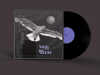Jacket's desgin minimal record night breeze seagull bird record label record cover music tokyo japan design