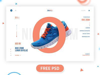 Free Free- Shoply page-3 shoply design trendy flat web desktop ux ui landing page shop minimal