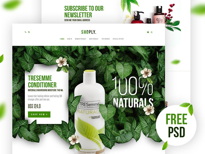 Free Free Shoply Landing Page shoply ui movie online clean color design interface landing page main page freebie free