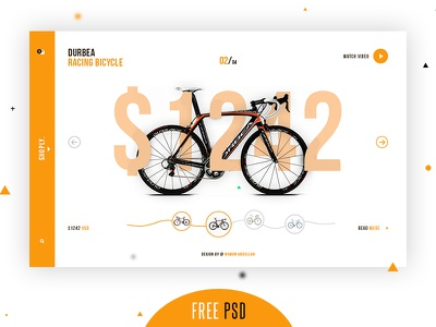 Shoply New Freebie shoply ui bicycle online clean color design interface landing page main page freebie free