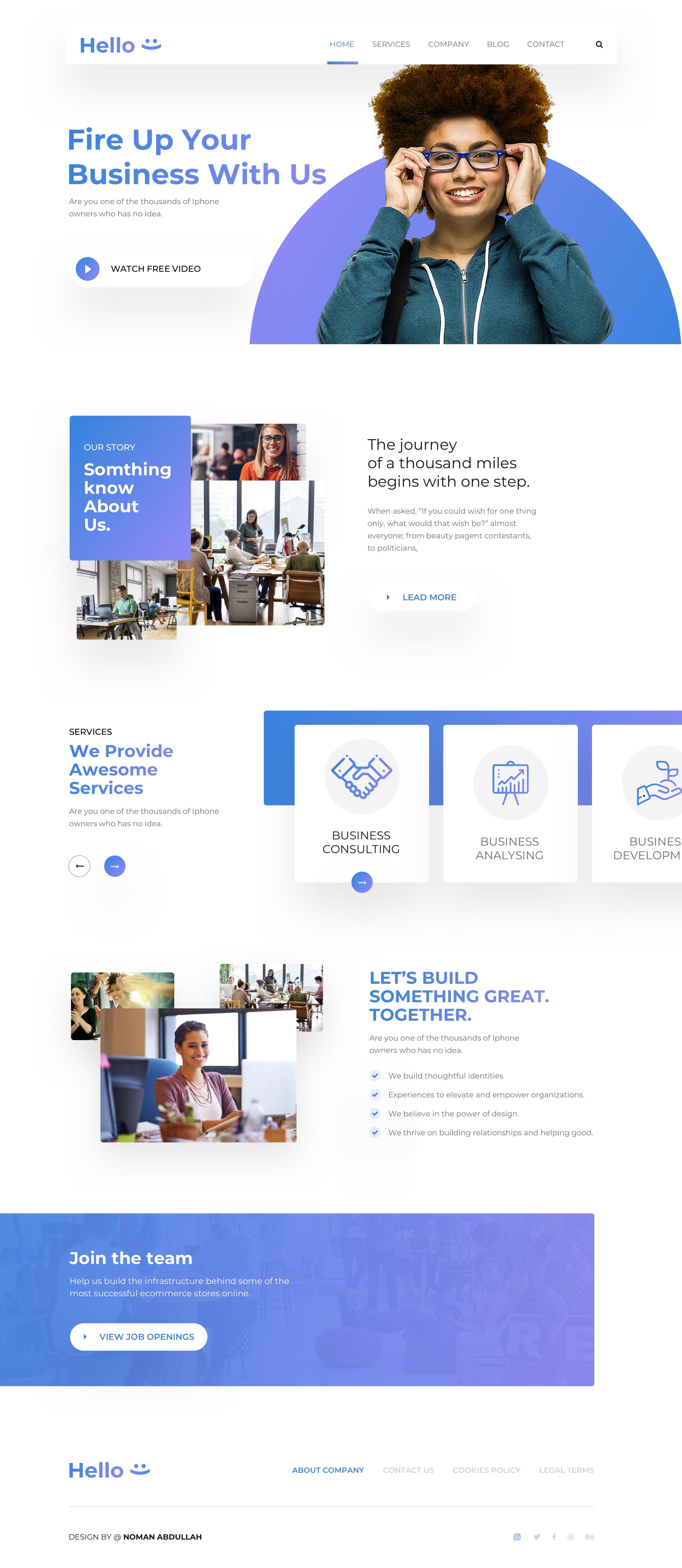 Hello home page