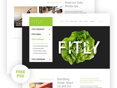 Free Free - Fitly Landing page