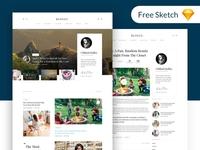 Free Free - Blogly Theme