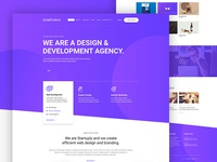 Free Free (PSD) - Startuply Agency landing page