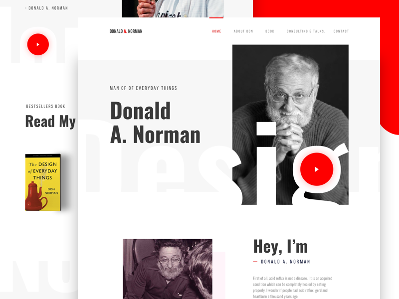 Donald A. Norman - Creative Landing Page