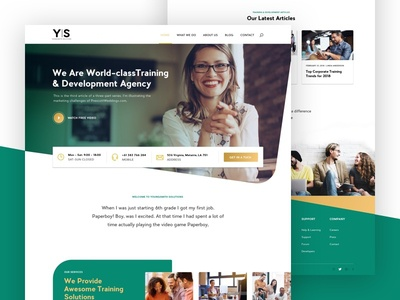 YoungSmith SOLUTIONS landing page ui trendy interface design creatively clean agency