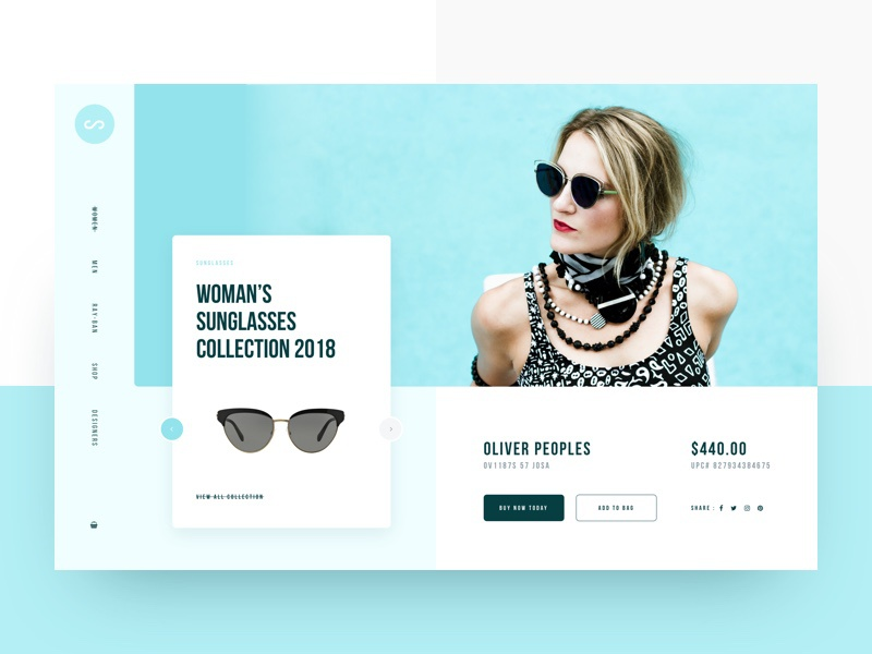 Visual Exploration slider header landing page ui trendy interface design creatively clean agency