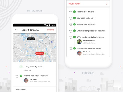 Food Order States userinterface ui plan mobile meal ios interaction food design app pathao order