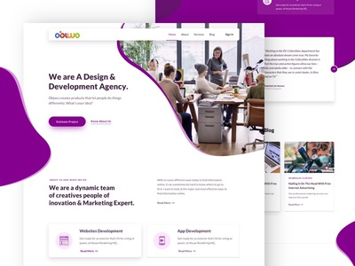 OBIWO_Website Design app ux agency clean ecommerce website design interface trendy ui landing page