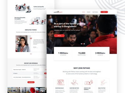 Pathao Tech Website ui trendy interface design website rideshare clean agency pathao company tech