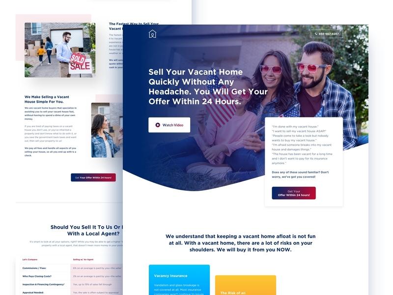 Vacant House-Website design design agency website homepage design house reant real estate minimal clean trendy ui agency landing page