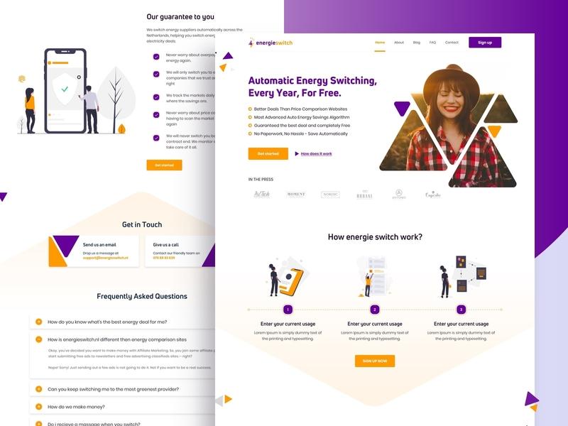 Energle Switch website design web website ui minimal agency interface clean design landing page credit switch