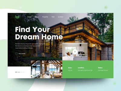 Future Home ecommerce agency minimal ui trendy clean landing page design header slider real estate realestate