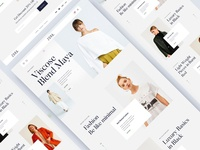 Zora Luxury ecommerce website design website illustration minimal interface clean landing page photography modeling fashion ecommerce zora