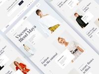 Zora Luxury ecommerce website design website illustration minimal interface clean landing page photography modeling fashion ecommerce zora